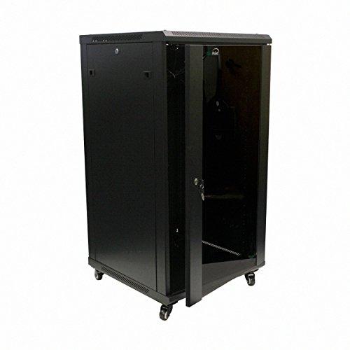 Server Box - NavePoint 22U IT Wall Mount Network Server Data Cabinet Rack Glass Door Locking Casters