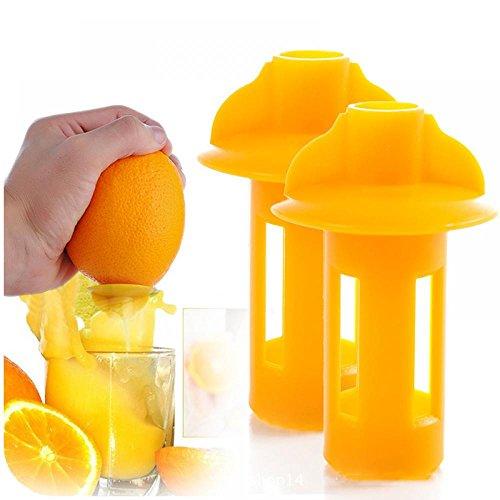 Mini Manual Hand Juicer - Citrus Squeezer, Lemon Juicer, Faucet Juice, Extractor Press - All in 1!