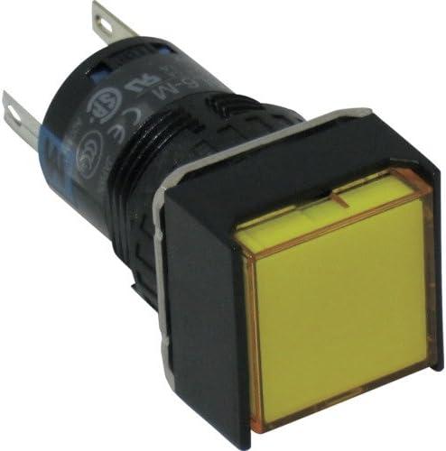 TRUSCO IDEC φ16正角形照光押しボタンスイッチ AL6QM14Y