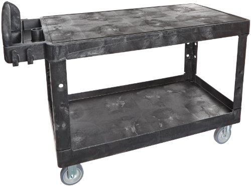 Rubbermaid-Commercial-HD-Ergo-Handle-Utility-Cart-Large-Black-FG454500BLA