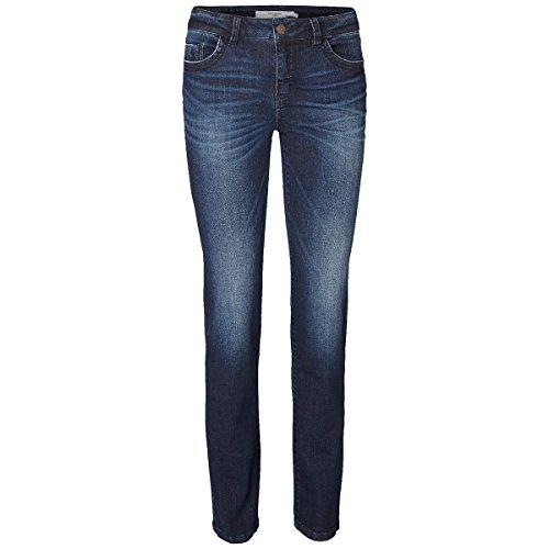Jeans Recto Oscuro Used de Vero Moda - 29, Azul