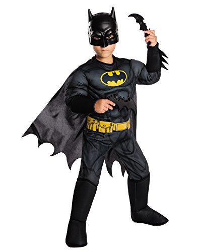 Rubie's Costume Boys DC Comics Deluxe Batman Costume, Small, Multicolor from Rubie's Costume