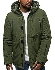 OZONEE Heren winterjas jas winter kleurvarianten warm bomberjack gewatteerde winterjas kunstbont donsjas lichte outdoor buffer jas gewatteerd O-9802