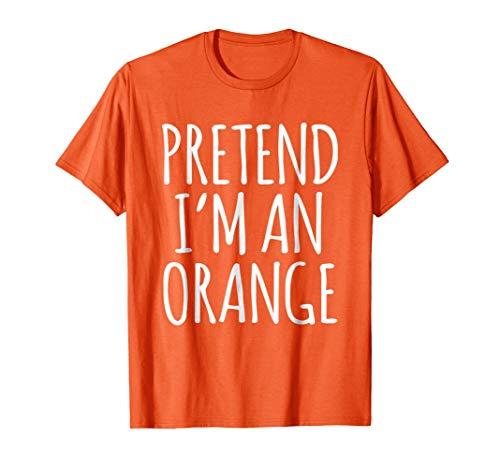 Lazy Funny Halloween Costume Shirt - Orange Fruit
