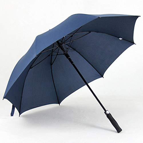 Handle Full Length Reinforcement Rib - QVQV Windproof Travel Umbrella Full Fiber Long Handle Umbrella 8 Bone Reinforcement Structure Oversized Business Straight Umbrella