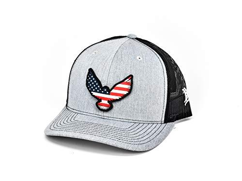 Freedom Eagle - Branded Bills 'Freedom Eagle Rogue' PVC Patch Hat - Curved Trucker - Heather Grey/Black/OSFA