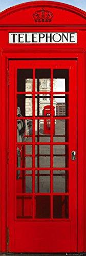Red London Telephone Booth Door Poster 21x62 Art 18589 Collections Door Poster Print, 20x62