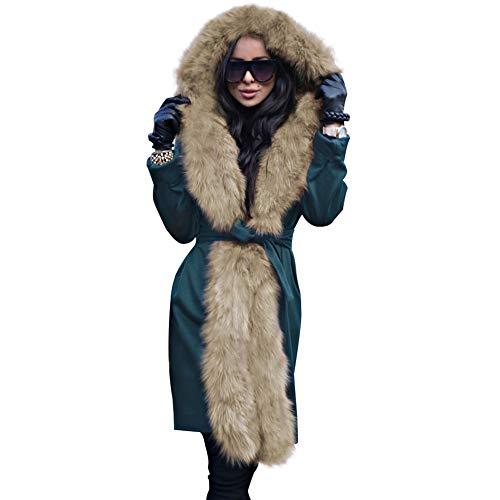 De Con Capucha Engrosado Abrigo Mei Darkgreen Algodón Mujer 1pcs Parka Para SwYqpE