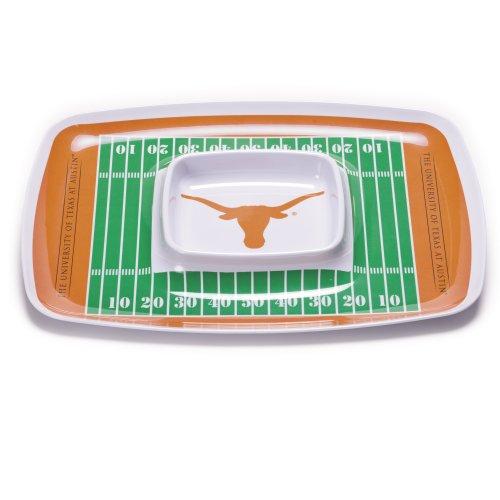 NCAA Texas Longhorns Melamine Chip and Dip - Collegiate Chip