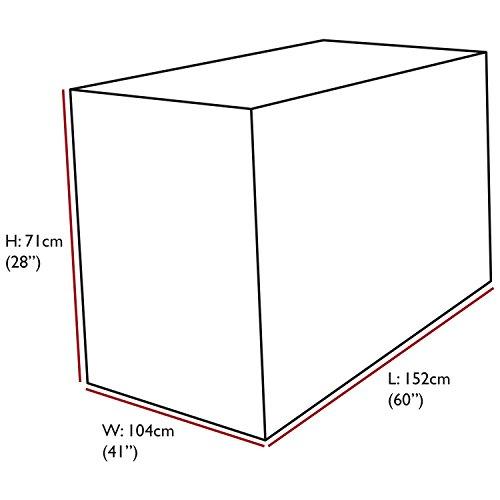 Oxbridge - Bâche pour table de jardin - rectangulaire/étanche - garantie 5 ans - noir - petite taille