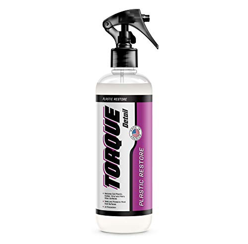 Torque Detail Plastic & Trim Restorer Spray - Restores, Shines & Protects Your Car's Plastic, Vinyl & Rubber Surfaces with Molecular Restoration - Easily Applies in Minutes, Lasts at Least 6 Months