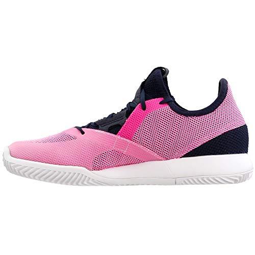 adidas Women's Adizero Defiant Bounce Tennis Shoe, Legend Ink/Shock Pink/White, 5.5 M US by adidas (Image #3)