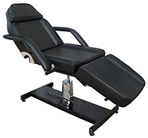 Black Hydraulic Beauty Couch Massage Chair Bed Therapy