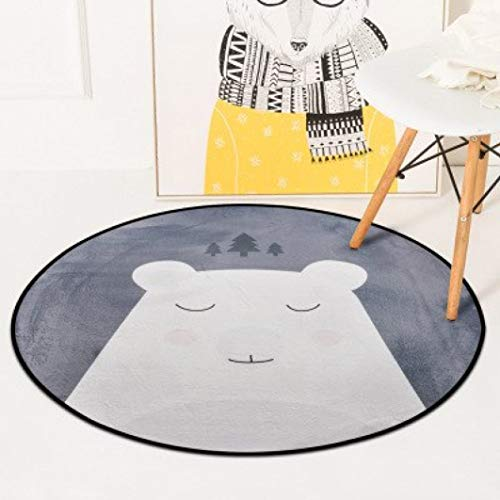 Memory 25e - Rugs European Record Round Carpet Home Decoration Nordic Style Carpets for Home Living Room Cartoon Children's Rug