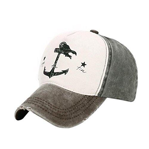 casuales Hombres Deportes Gorra libre aire Sombreros Snapback Marrón al Mujer Goodsatar de beisbol Marrón zZqXW6nd1