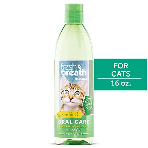 Fresh Breath by TropiClean Oral Care Water Additive for Cats, 16oz – Made in USA