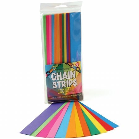 Hygloss 17011 Mighty Bright Chain Strips 1X8 180/Pkg-Assorted Colors