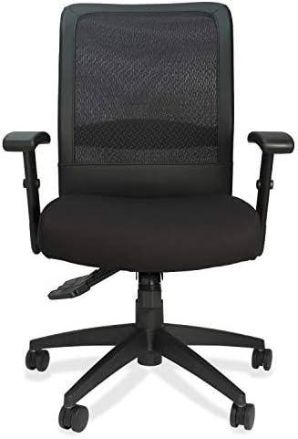 "Lorell Executive High-Back Mesh Multifunction Chair, 46.3"" x 27.8"" x 27.8"", Black"