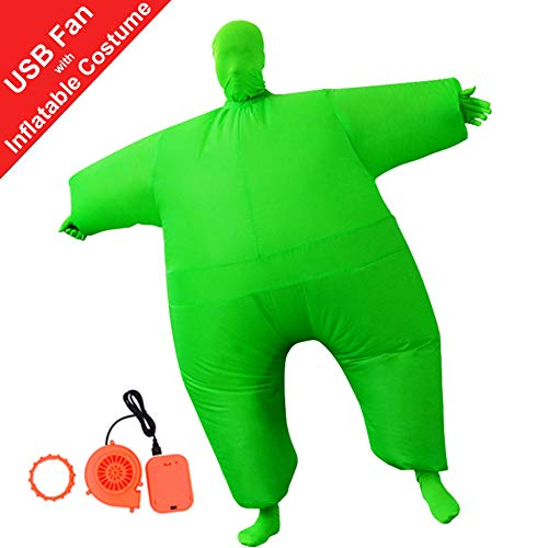 HUAYUARTS Inflatable Full Body Suit Christmas Costume Adult Funny Cosplay Cloth Party Toy for Halloween, Free Size, -