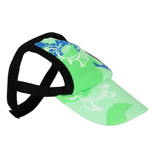 PlayaPup Sun Protective Dog Visor, X-Large, Emerald (Print Dog Visor)