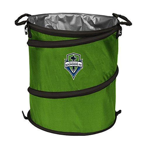 Logo Brands NCAA Seattle Sounders Fc 3-in-1 Collapsible Trash Can ()