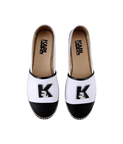 Karl Lagerfeld , Ballerines pour femme blanc Weiß IT - Marke Größe
