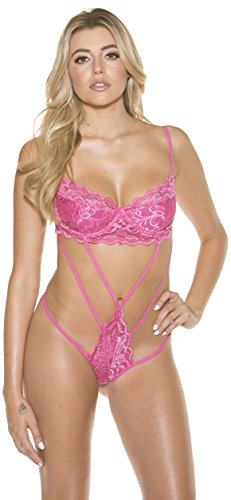 Shirley of Hollywood Strappy Lace Teddy