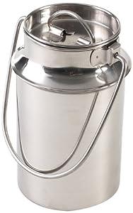axentia 220635 Bidon à lait en acier inoxydable avec poignée 1,5l