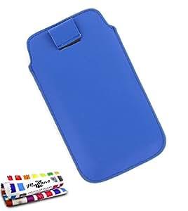 """Funda SAMSUNG GALAXY FAME [""""Le Sweep""""] [Azul] de MUZZANO + ESTILETE y PAÑO MUZZANO REGALADOS - La Protección Antigolpes ULTIMA, ELEGANTE Y DURADERA para su SAMSUNG GALAXY FAME"""