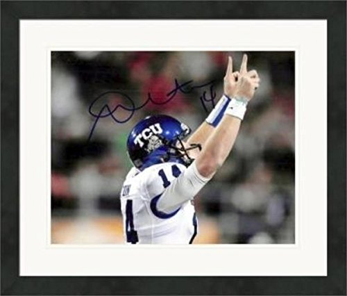 Autographed Andy Dalton Photo - 8x10 QB) #1 Matted & Framed - Autographed College Photos