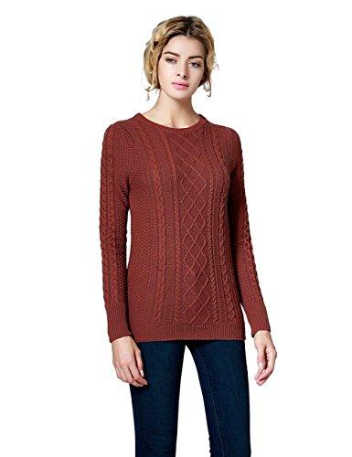 Jual Ninovino Women s Crew Neck Cable Knit Long Sleeve Tunic Sweater ... 3878e52aa