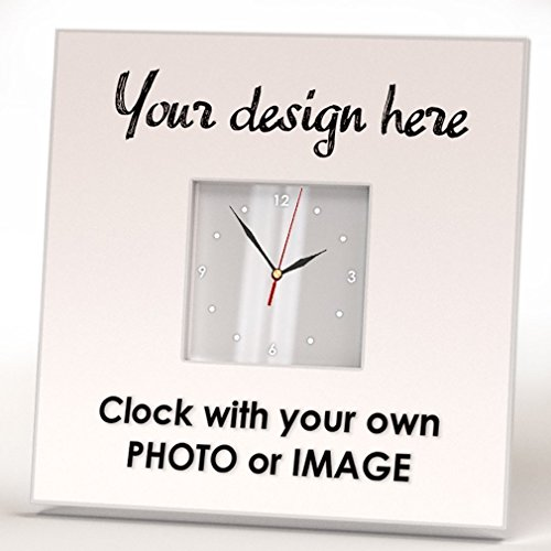 - Customized Personalized Wall Clock Framed Mirror Gift Decor Souvenir Design Your Custom Photo Image