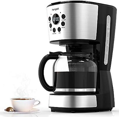 Homgeek Cafetera 12 Tazas, Café Maker con Apagado Automático ...