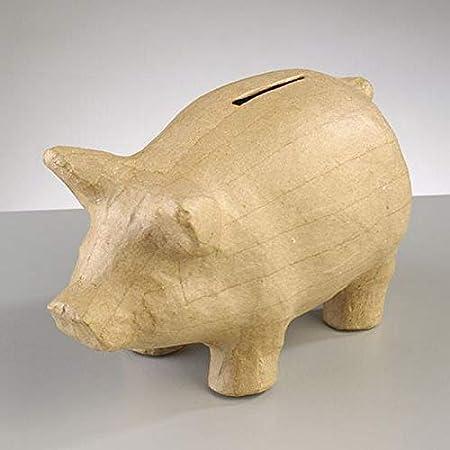 Efco Tirelire En Papier Mache Forme Cochon 16 5x8x10 Cm A