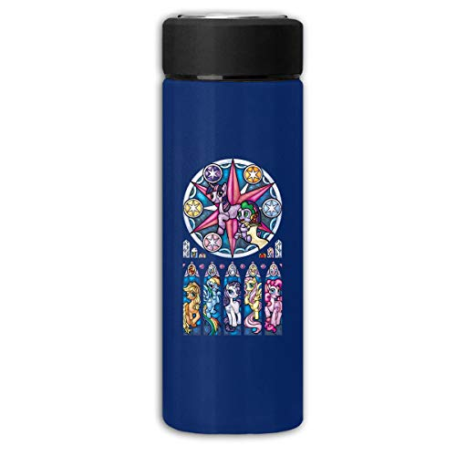LightCa My Little Pony Stained Glass Window Insulation Scrub Business Water Bottles Navy One Size]()