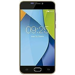 """Smartphone Qbex Flix 8GB 4G Tela 5"""" Câmera 8MP e Selfie 5MP Android 5.1 Dourado"""