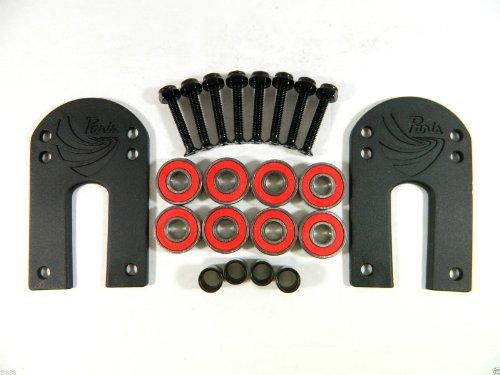 "Paris 1/8"" Riser Pad + ABEC 7 Bearings + Spacers + 1.25'' Hardware"