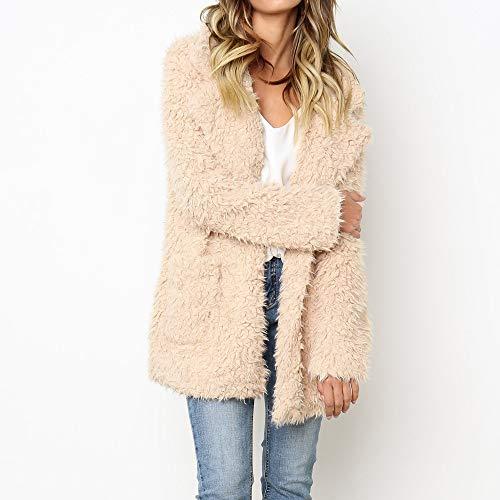 Parka Yvelands Cachi Cappotto Trench Fashion Donna Coat Lunga Pioggia Calda Giacca Sintetica Pelliccia Da Invernale Warm In araPqnZE