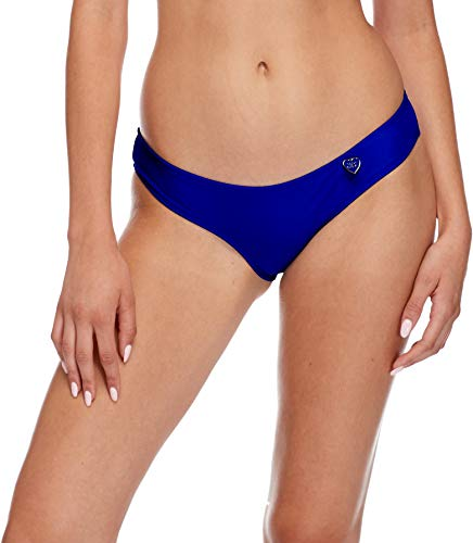 Body Glove Women's Smoothies Eclipse Solid Surf Rider Bikini Bottom Swimsuit, Abyss, X-Large