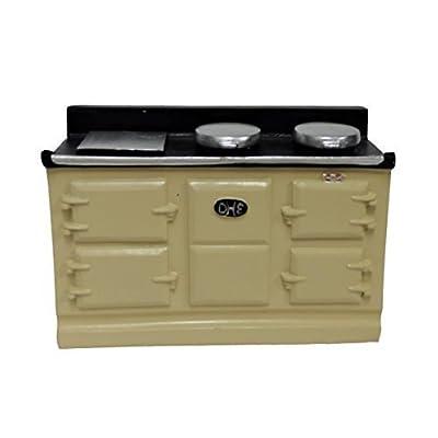 Melody Jane Dollhouse 4 Oven Cream Aga Stove 1:12 Miniature Kitchen Furniture: Toys & Games