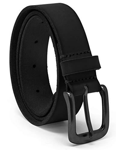 Kids Classic Belt - Timberland Boys' Big Leather Belt for Kids, Black/Classic, Large