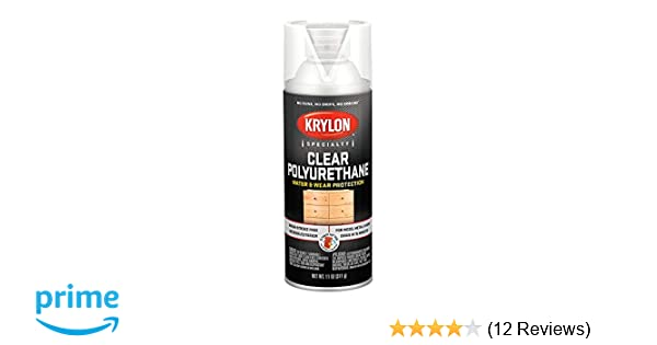 Krylon K07005 Polyurethane Gloss Varnish Paint, 11 Ounce