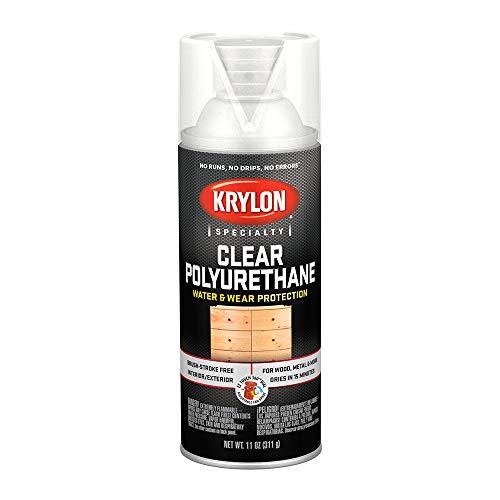 Krylon K07005 Polyurethane Gloss Varnish Paint, 11 Ounce (Coat Orange Krylon)