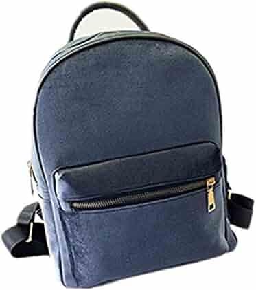 bc21fd13c491 Lurryly Women s Gold Velvet Backpacks Rucksack School Bags Travel Backpack  Shoulder