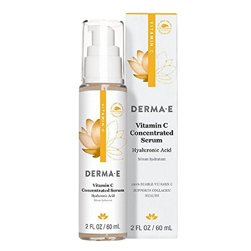 DERMA E Vitamin C Concentrated Serum with Hyaluronic Acid 2oz