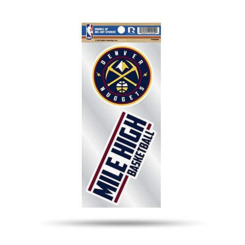 NBA Denver Nuggets Double Up Die Cut 2-Piece Sticker -