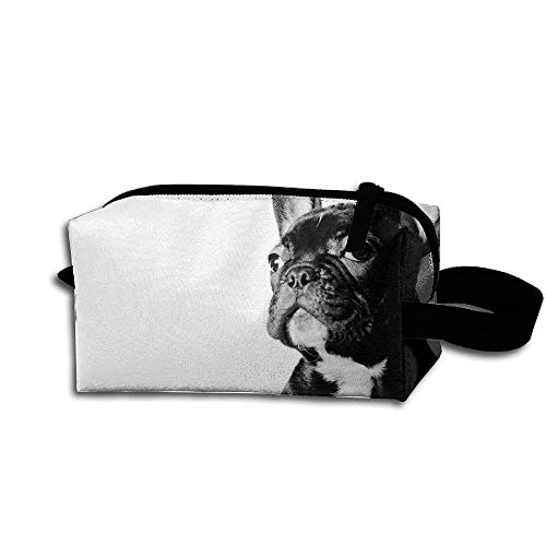 Makeup Cosmetic Bag French Bulldog Cool Pattern Lovers Medicine Bag Zip Travel Portable Storage Pouch For Mens Womens - Bull Pouch Mens
