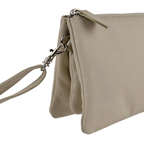 LEATHER Cream Blousey Clutch by Shoulder Soft Night Teal Ladies BAG Handbag Out Brown Aq76awn