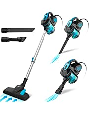 INSE Vacuum Cleaner Corded Bagless Stick 18 KPA Powerful Suction, Multipurpose 3 in 1 Handheld Vac with 6m Power Cord Blue