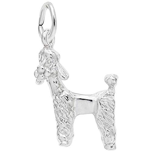 Rembrandt Charms Poodle Charm, Sterling Silver